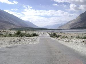 road through Staksha village, Nubra valley
