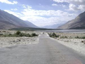road through Staksha village, Nubra valley