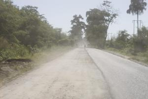 a road under construction in Assam
